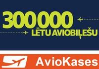 airBaltic - 300 000 lētu aviobiļešu!