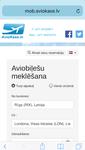 Мобильная версия сайта Aviokase.lv