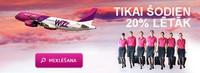 Авиакомпания WizzAir - 2 февраля скидка 20%.