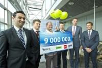 Аэропорт «Рига» встретил 9-миллионного пассажира