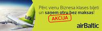 airBaltic акция. Бизнес класс: один билет - два пассажира!