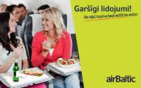 Pērc airBaltic biļeti un baudi garšīgu lidojumu!