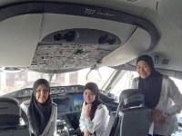 В Саудовской Аравии впервые приземлился полностью женский экипаж