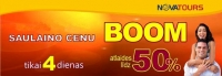 Novatours |SAULAINO CENU BOOM!!! Atlaides līdz 50%!