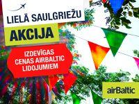 airBaltic - Lielā saulgriežu akcija!
