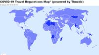 Ceļošanas noteikumu karte pandēmijas COVID-19 laikā