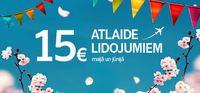 Авиабилеты со скидкой 15 Eur!
