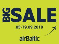 Lielākā airBaltic lidojumu pārdošana šoruden.