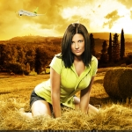 Sokolovam pozē smukākās 'airBaltic' meitenes