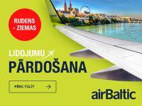 Rudens - ziemas lidojumu pārdošana no airBaltic